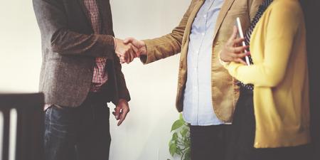 Business Team Partnership groethanddruk Concept Stockfoto