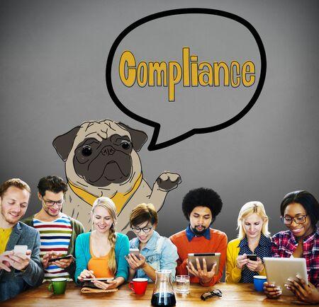 regulation: Compliance Affirmation Continuity Regulation Concept Stock Photo