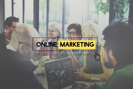 Online Marketing Advertisement Strategy Target Promotion Concept Stock Photo - 49845131