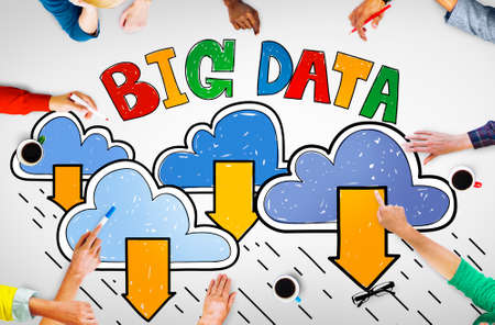 shared sharing: Big Data Storage Database Download Concept