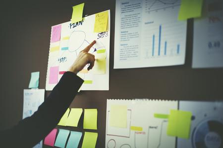ビジネス グラフ組織マーケティング企画 写真素材 - 49845112