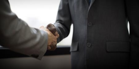 stretta di mano: Gente di affari della stretta di mano accordo contrattuale Concetto Archivio Fotografico