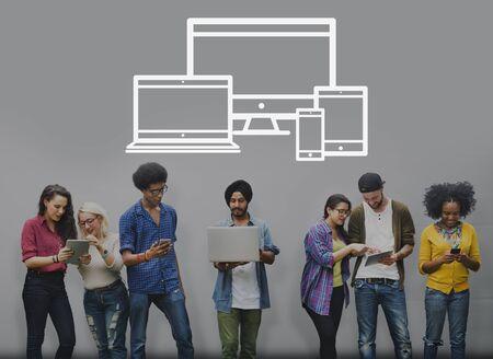 media gadget: Technology Digital Devices Communication Connection Concept