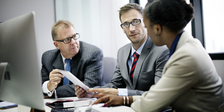 white woman: Business Team Corporate Organization Meeting Concept