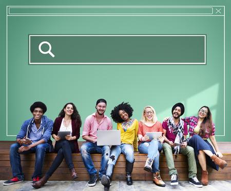 インターネット オンライン インターフェイス web ページ概念を検索