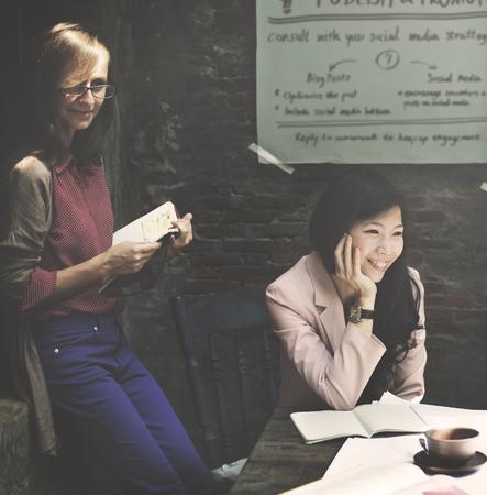 Zakenvrouw Werken Team Collaboration Vrouwen Concept
