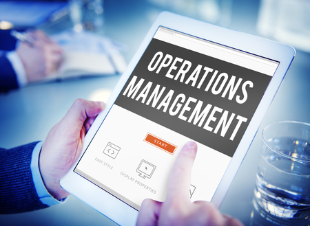 trainer device: Operations Management Authority Director Leader Concept