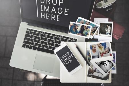 technology: Imagen del concepto Foto Merketing Publicidad Comercial Foto de archivo