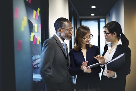 negocio: Concepto de negocio de equipo de trabajo Organización Empresarial