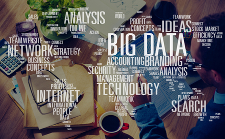 빅 데이터 스토리지 온라인 클라우드 데이터 센터 웹 개념 스톡 콘텐츠