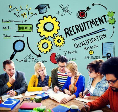 qualification: Recruitment Qualification Mission Application Employment Hiring Concept