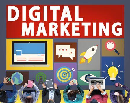 sales meeting: Digital Marketing Commerce Campaign Promotion Concept