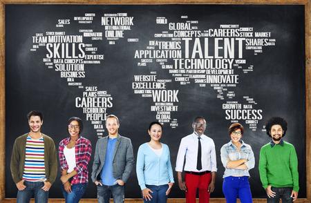 Experiencia Talento Habilidades Genius Concepto Profesional Foto de archivo - 49844617