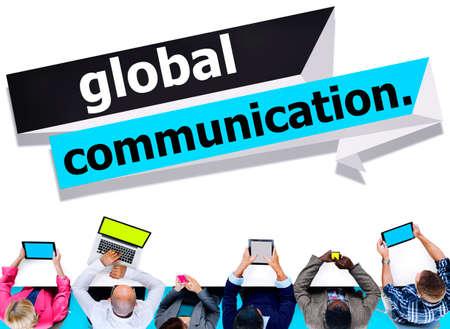 comunicarse: Conexi�n Global Communications Comunicar Concepto