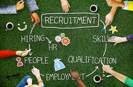 qualification: Recruitment Hiring Skill Qualification Job Concept