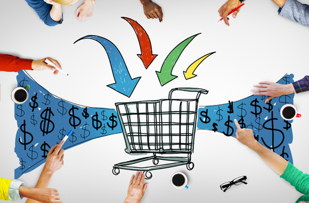 cart cash: Business Technology Shopping Online Browsing Concept
