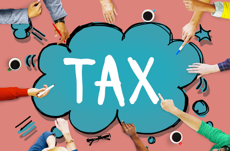 Tax Taxing Taxation Taxable Taxpayer Finance Concept Stockfoto
