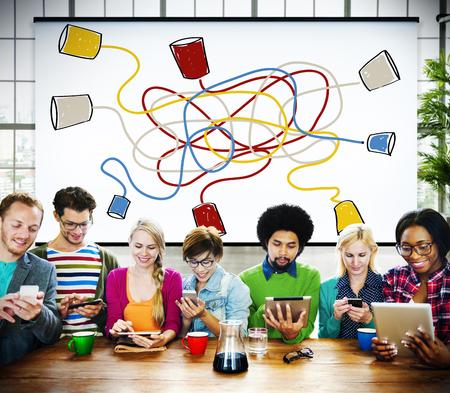 comunicar: Comunicar Comunicaci�n Conexi�n de Telecomunicaciones Llamando Concepto