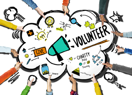 ボランティア チャリティー ・義援金作業支援コンセプト 写真素材