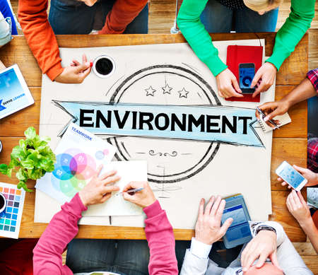 Working Environment: Environment Ecology Earth Green Business Concept Stock Photo