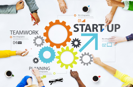 planning strategy: Startup New Business Plan Strategy Teamwork Concept