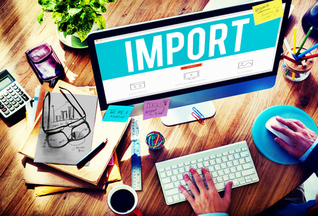 deliver: Import Trade Deliver Transportation Shipping Freight Concept Stock Photo