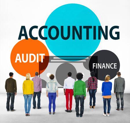 facing backwards: Accounting Audit Finance Economic Capital Concept