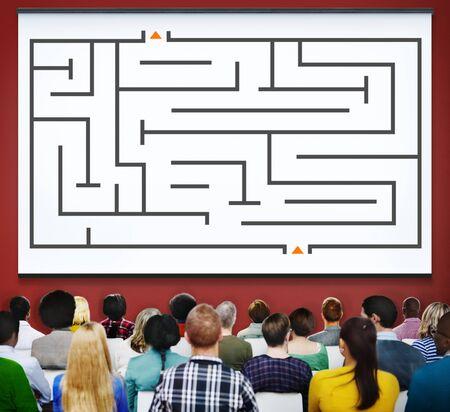 estrategia: Laberinto Estrategia Solución Éxito Determinación Dirección Concepto