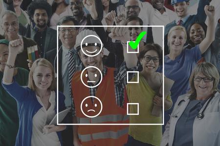 job evaluation: Evaluate Evaluating Evaluation Statistics Questionaire Concept Stock Photo
