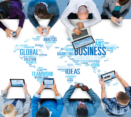new opportunity: Global Business Opportunity Growth Organization Concept Stock Photo