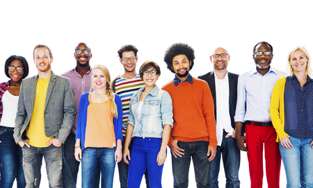 diversity people: Gruop Of Diverse People Standing Together Concept Stock Photo