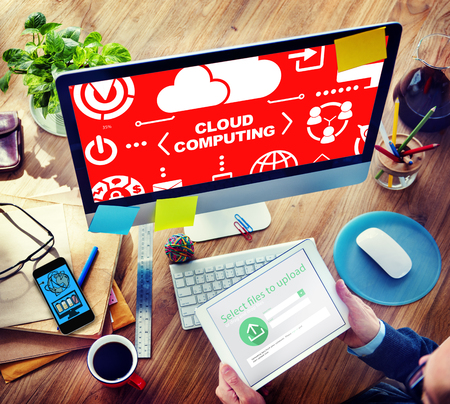 cloud networking: Cloud Computing Network Online Internet Storage Concept