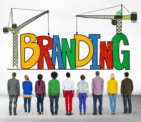 people looking up: Branding Market Name Strategy Trademark Concept