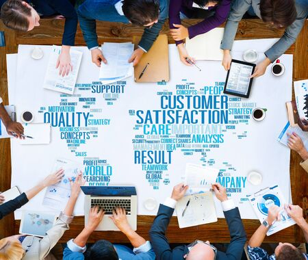 reliability: Customer Satisfaction Reliability Quality Service Concept Stock Photo
