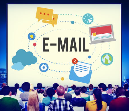 People with email concept Stockfoto - 108772666