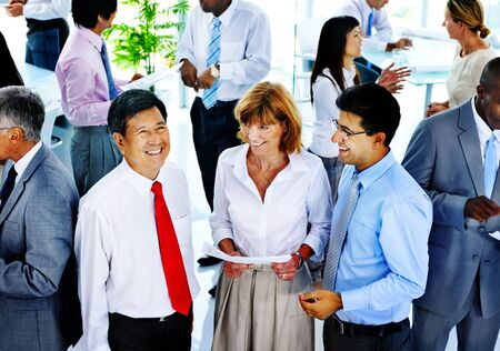 Business People Communication Interaction Colleagues Corporate Concept