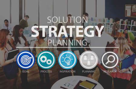 the solution: Solution Strategy Planning Business Success Target Concept