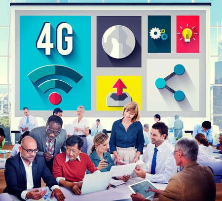 4g: 4G Technology Internet Communication Connection Concept Stock Photo