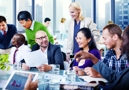 asian ethnicity: Business People Team Teamwork Cooperation Partnership Concept Stock Photo