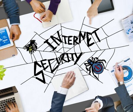 internet safety: Internet Security Web Protection Safety Concept