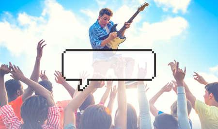 euphoric: Speech Bubble Copy Space Communication Announcement Pixel Concept