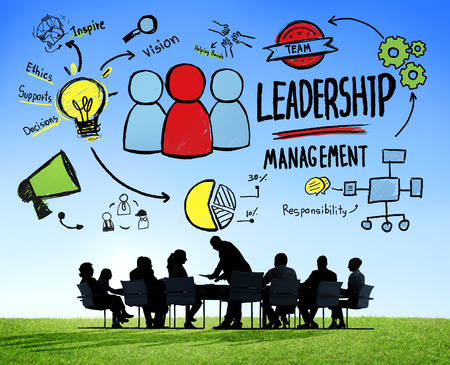liderazgo empresarial: Gesti�n de Liderazgo Diversidad Gente de negocios Reuni�n de Discusi�n Concepto