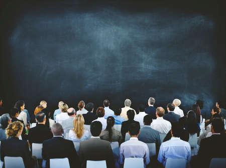 reuniones empresariales: Group of Diverse Business People in a Seminar Concept Foto de archivo