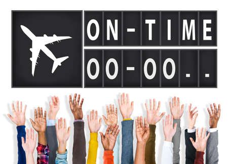 punctual: On Time Punctual Efficiency Organization Management Concept Foto de archivo