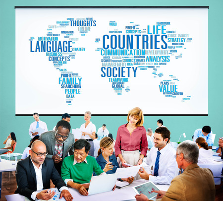 Global business communication concept