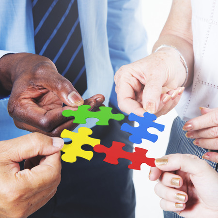 jigsaw puzzle: Business Connection Corporate Team Jigsaw Puzzle Concept
