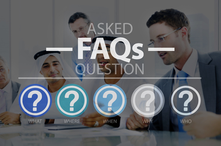 frequently asked questions: Frequently Asked Questions Asking Reply Response Concept Stock Photo