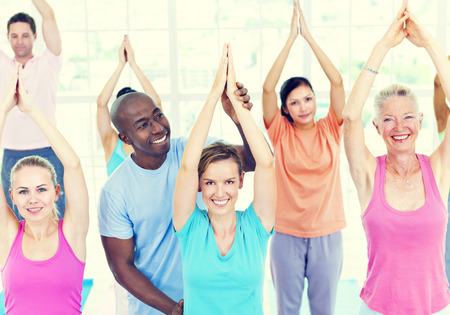 Fitness Health Gym Group Training Exercise Concept Stock Photo