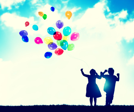 Children Balloon Childhood Fun Playing Concept Stock Photo