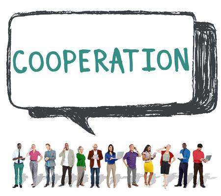 teamwork people: Cooperation Partnership Teamwork Connection Concept